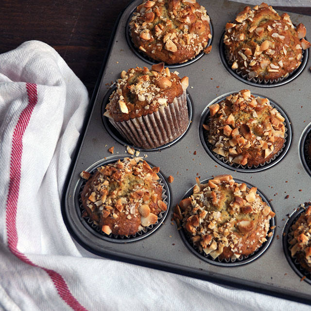 how to make banana muffins without baking soda